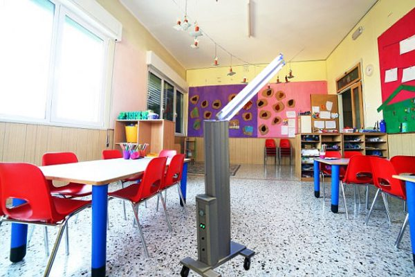 MUVi UV disinfector in the childcare