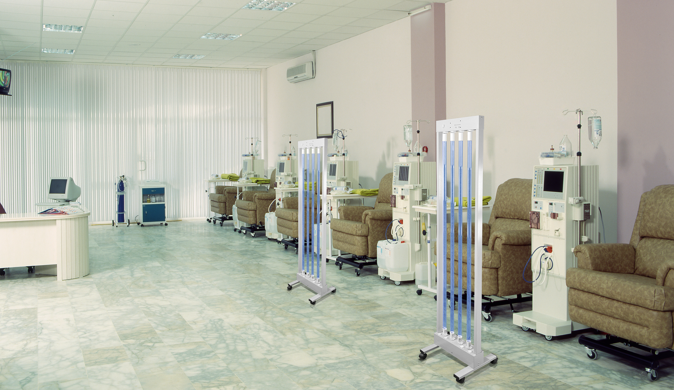 Dialysis room disinfection